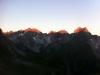 Sonnenaufgang bei Memminger Hütte