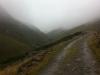 Aufstieg im Nebel durchs Niederbachtal zur Martin-Busch-Hütte