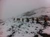 Wanderkarawane im Schnee