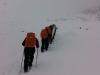 Auftsieg zur Similaun-Hütte im Schneesturm